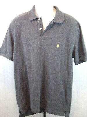 Brooks Brothers Mens Large Gray Cotton Short Sleeve Polo Golf Casual Shirt