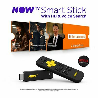 NOW TV Smart Stick with 2 month entertainment pass -  NEW