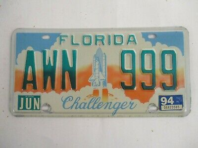 1994 Florida CHALLENGER with nice number License Plate Tag