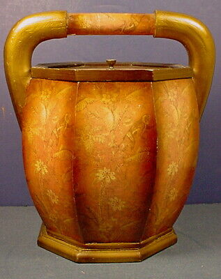 Antique Chinese Qing Dynasty Eight-Sided Wooden Rice Grain Bucket
