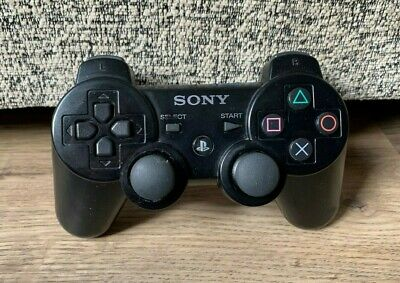 Official Sony Playstation 3 DualShock 3 SixAxis Wireless Black Controller