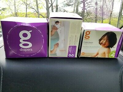 g Diaper Lot of 3 Rare New Unopened Boxes of Cloth Liners Discontinued Item