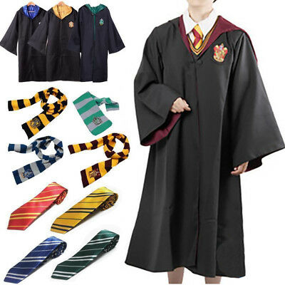 ~Harry Potter Cape Costume Cosplay Manteau écharpe Cravate Gryffindor Slytherin~