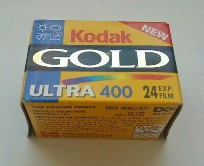 Kodak GOLD Ultra 400 24 Exp. Color 35mm Film, Expired 10.1999. Made in USA