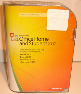 MICROSOFT OFFICE HOME STUDENT 2007  W/ KEY Full Retail Version for 3 PC