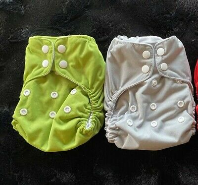 Lot Of 2 Thirsties Natural All In One-One Size Diapers NAIO OS