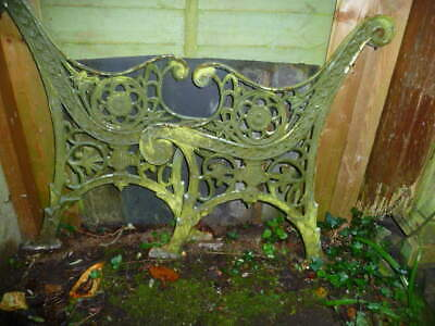 2 very ornate wrought iron bench/seat ends need TLC