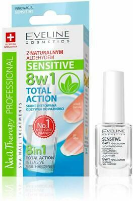Eveline NAIL THERAPY 8in1 Total Action Sensitive Intensive Nail Hardener 12ml