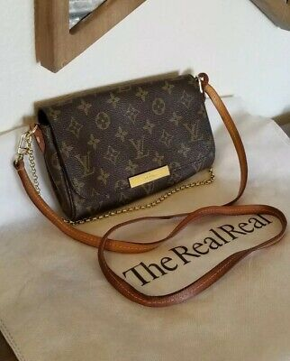 Authentic Louis Vuitton Monogram Favorite Pm Crossbody Clutch