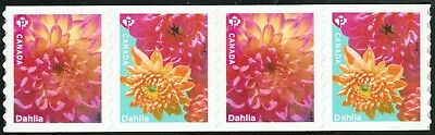Canada sc#??? Dahlia, Strip of 4 with # from Coil, Mint-NH