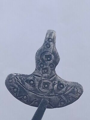 ANCIENT VIKING SILVERED THORS HAMMER AMULET PENDANT - CIRCA 9th/10th CENTURY