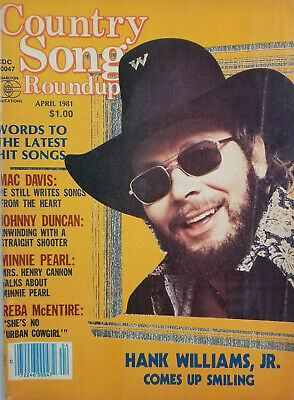 Country Song Roundup Yearbook 1981 Music Magazine Hank Williams Jr Mac Davis