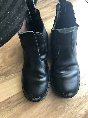 Clarks Kids Black Leather Boot Shoes Uk 2.5