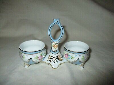 Vintage Limoges Double Open Salt Cellar