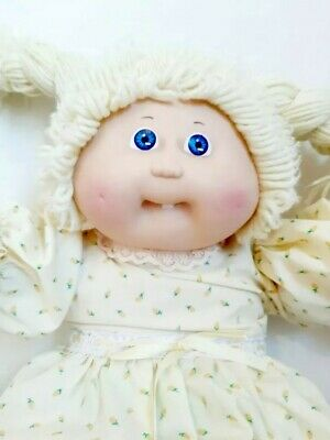 Vintage 1985 Cabbage Patch Kid Blonde Braids Tooth Dimples Doll handmade outfit
