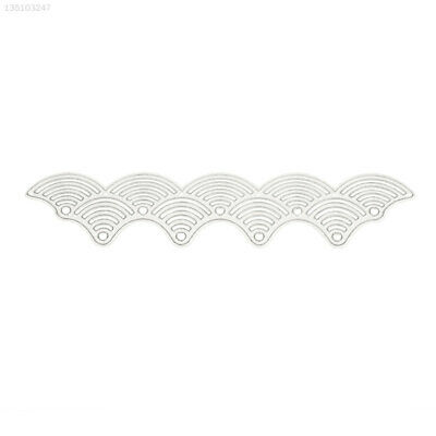 Embossing Card Cutting Dies Silvery DIY Paper Crafts Home Office Wave Template