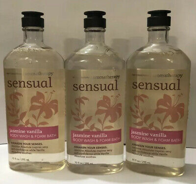 Bath and Body Works Jasmine Vanilla Sensual Wash Aromatherapy Foam Rare HTF Gift