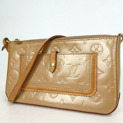 Authentic LOUIS VUITTON M91197 Vernis Mallory Square Pouch Epi Leather[Used]