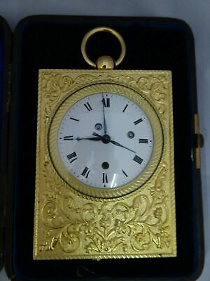 Ormolu Carriage clock  Repeater Empire 1820 + travelling Box