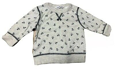 Country Road Baby Boy Long Sleeve Top Anchor Print Size 000 Soft