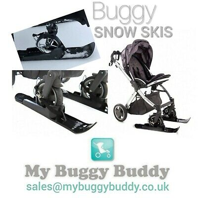 My Buggy Buddy Sand Skis for Baby Buggy, Stroller, universal, with storage bag