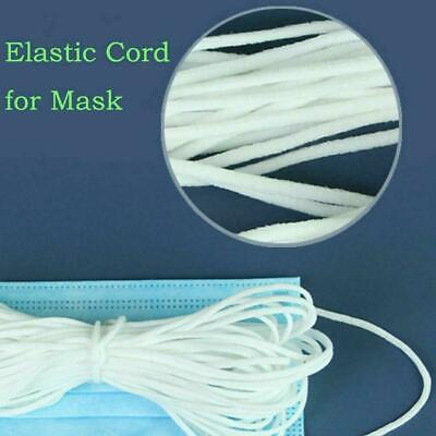 3mm Round Elastic Band Cord For Mouth Crafts Ear Hanging DIY 100M Materials W7Q6