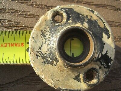Antique 1800 S FLAT CAST IRON   DOOR KNOB ESCUTCHEON