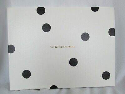 Kate Spade WEEKLY MEAL PLANNER Black Polka Dot Hardcover