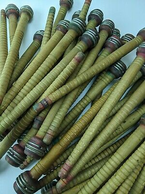 25 Vintage Wooden Industrial Bobbin, Quill, Spool, Thread Yarn Textile 10 inches