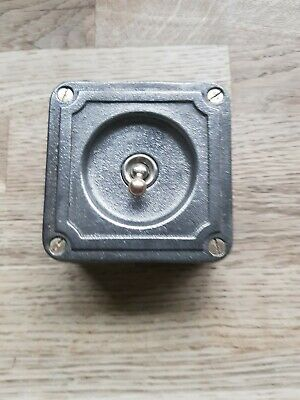 Vintage Industrial Cast Iron Toggle Light Switch Crabtree