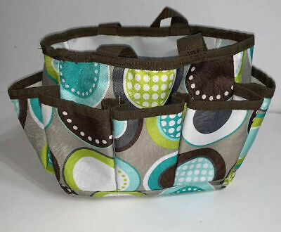 THIRTY ONE MINI ORGANIZER with Handle Pockets Retired Color MINTY CHIP (NWT)