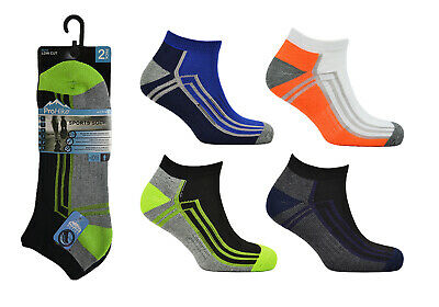 6 Pairs Mens Trainer Liners Sports Socks Size 6-11 Eur 39-46 ProHike Running Gym