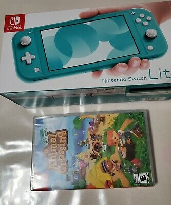 Nintendo Switch Lite - Turquoise Bundle with Animal Crossing screen protector