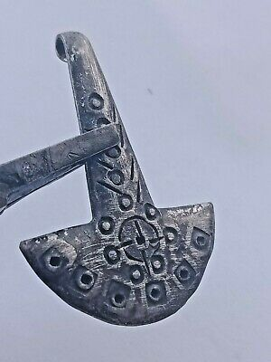 Detector Finds Ancient Viking Silvered Cross Form Warriors Pendant Wearable