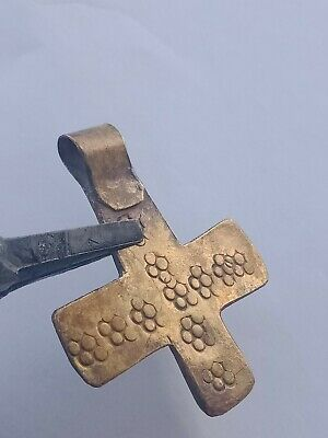 Detector Finds Ancient Viking Bronze Cross Form Warriors Pendant Wearable