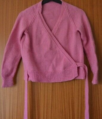 Dancewear Ballet Girl's pink hand knitted crossover