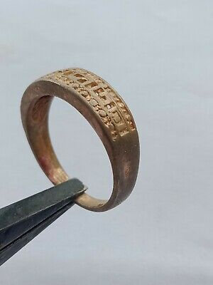Ancient Bronze Ring Roman Rare Legionary Artifact Authentic Extremely Old