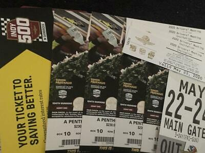 INDY 500 (4) A Penthouse Seats, 3 Day Parking, Driver Meeting/Garage Passes