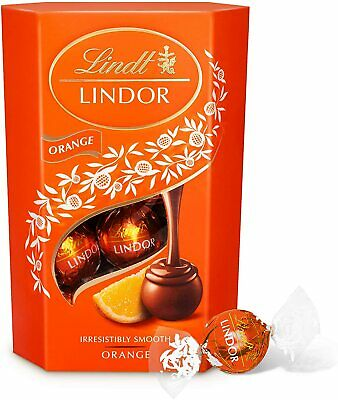 Lindt Lindor Orange Assorted Chocolate Truffles Box (TasTy) for Party Gift