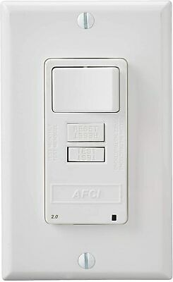 Leviton AFSW1-W SmartlockPro Outlet Branch Circuit Combination Arc-Fault Circuit