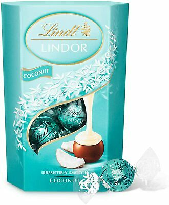 Lindt Lindor Coconut Assorted Chocolate Truffles Box (TasTy) for Party Gift
