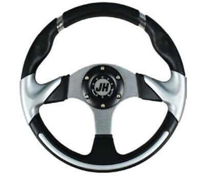 Deluxe Steering Wheel- Silver for STAR Classic Golf Cart