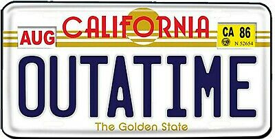 Back To The Future OUT A TIME Vanity Novelty License Plate