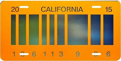 Back To The Future Bar Code Vanity Novelty License Plate