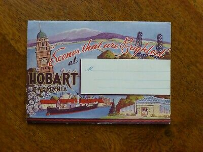 Scenes That Are Brightest at Hobart, 12 colour photos, c1940s, Green's Souvenirs