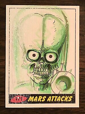 2012 Topps Heritage Mars Attacks Martian sketch card 1/1 Stroup