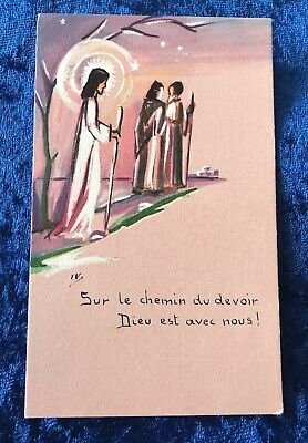 Vintage Antique Belgium 3 Wise Men Art Religious Holy Prayer Card Catholic Vtg