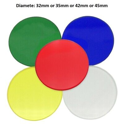 Microscope Color Filter Green Blue Yellow Red Frosted Glass 32mm 35mm 42mm 45mm