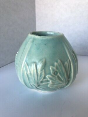 Vintage Original Nelson McCoy Pottery  Butterfly  Planter Aqua Green.