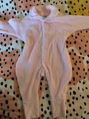 Bonds Wondersuit Button Up Pink Terry Towel Girls Boys Size 000